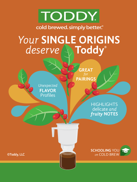 single origins toddy cold brewed